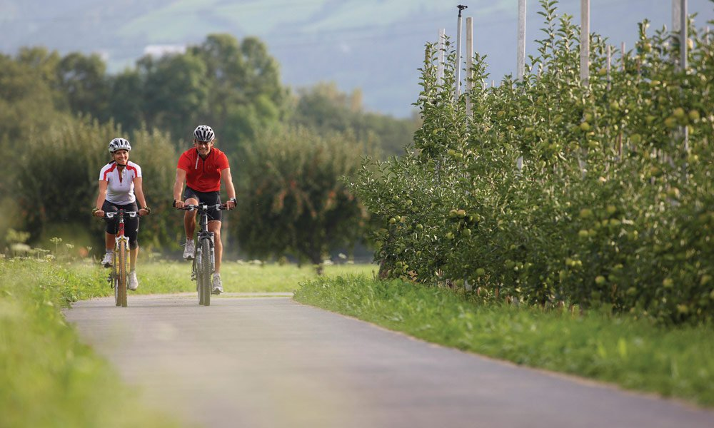Sulla pista ciclabile della Val Pusteria