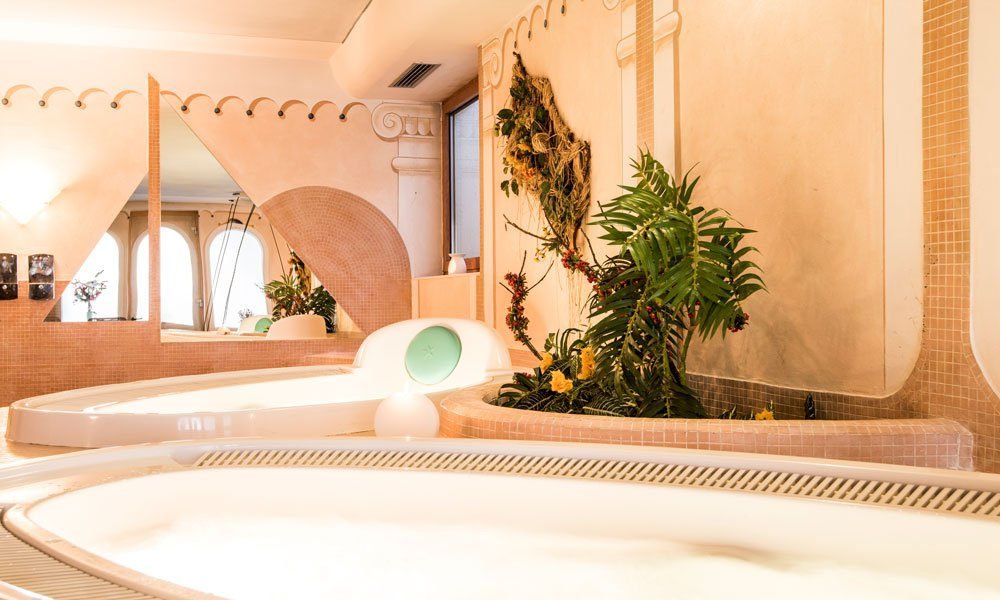 Relaxing in our spacious wellness area