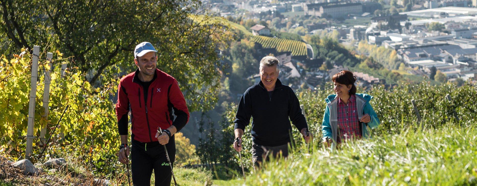 Nordic walking in valle isarco la perfetta vacanza for Mezza pensione bressanone